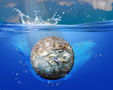 Money Ball Into Blue Waters.