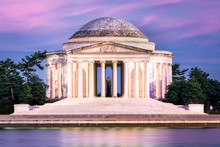Jefferson Memorial In Washington DC. The Jefferson Memorial Is A Public Building Managed By The National Park Service Of The United States Department Of The Interior
