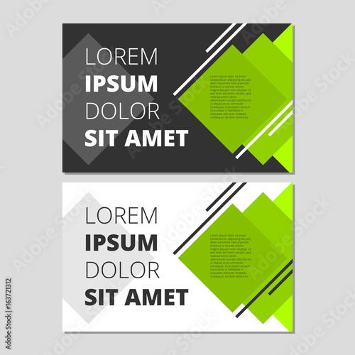 Valokuva  Modern leaflet design