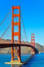 Golden Gate Bridge As Seen From San Francisco Side - California