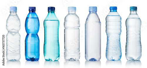 Photo sur Aluminium Eau Collection of water bottles