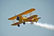 Yellow Biplane Airshow