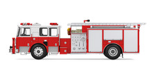 Fire Rescue Truck Isolated