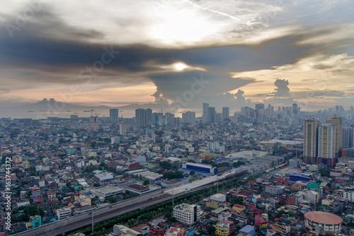 Foto op Aluminium Kuala Lumpur sunset in metro manila , philippines