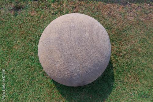 Papiers peints Jardin Rock Ball on the grass