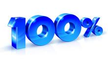 Glossy Blue 100 One Hundred % ...