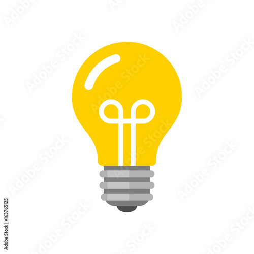 Photo  Light Bulb Icon. Flat Style Vector