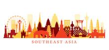 Southeast Asia Landmarks Skyline, Shape