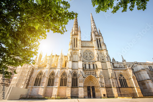 Morning view on the beautiful saint Pierre cathedral in Bordeaux city, France Canvas Print