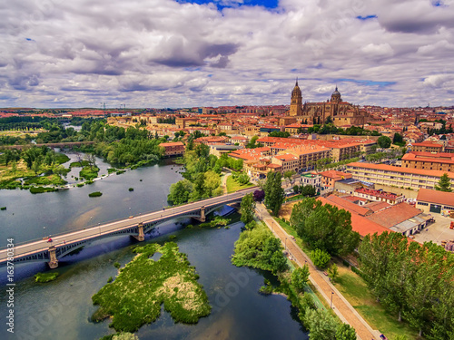 Salamanca, Spain: The old town, The New Cathedral, Catedral Nueva and Tormes river