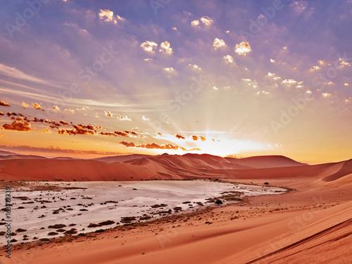 Poster de jardin Desert de sable desert of namib with orange dunes