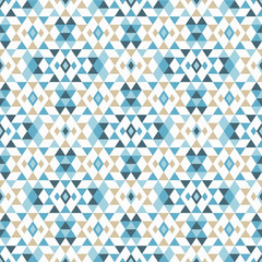 FototapetaEthnic boho seamless pattern. Tribal art print, repeatable background. Retro motif. Vector illustration. Textile rapport.