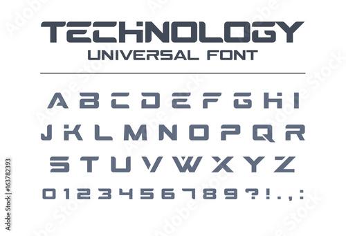 26052257f Technology universal font. Geometric