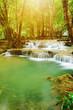 Level 7 of Huay Mae Kamin waterfall in Khuean Srinagarindra National Park, Kanchanaburi, Thailand