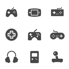 Vector Black Video Game Icons ...