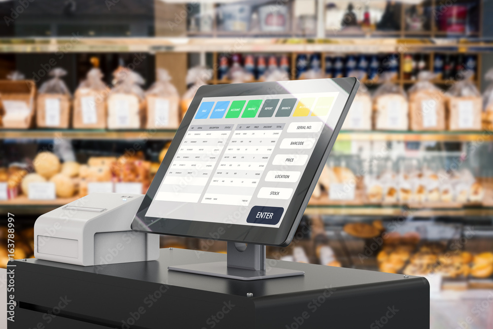 Fototapety, obrazy: point of sale system for store management