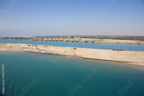 Recess Fitting Channel View of Abou Sultan and the Suez Canal with the northern exit of the Great Bitter Lake