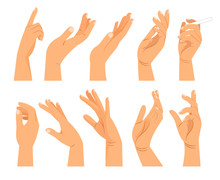 Hand Gestures In Different Pos...