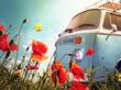 canvas print picture - Bus Vintage