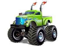 Cartoon Monster Truck. Availab...