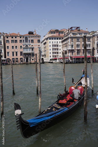 Türaufkleber Gondeln Gondola on the canal in Venice, Italy, Europe.