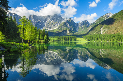Recess Fitting Canada High resolution panorama of the Laghi di Fusine alpine lake in the Julian Alps in Italy