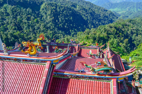 Traditional Chinese-Style Rooftops of Chin Swee Caves Temple on Genting Highland Poster