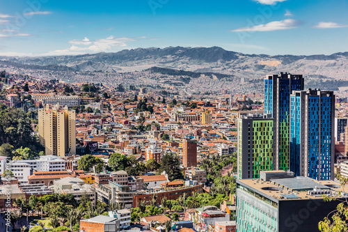 Photo Stands South America Country Bogota Skyline cityscape in Bogota capital city of Colombia South America