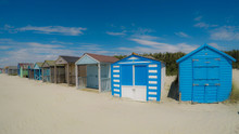 Traditional Beach Huts On Fine...