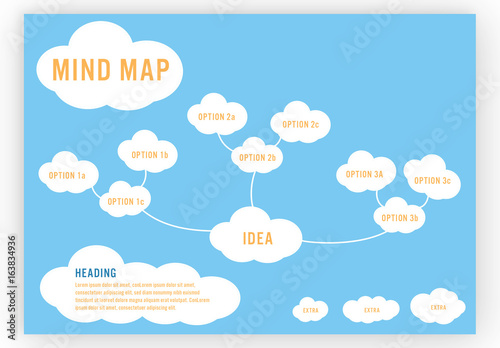 Whimsical Cloud Mind Map Layout. Buy this stock template and ... on cloud world map, cloud activity map, cloud mind art, cloud value map, creating a concept map, cloud word map, printable concept map, cloud concept,