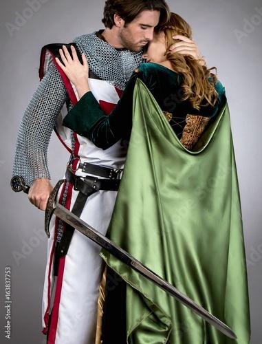 Fotografie, Obraz  Medieval Couple