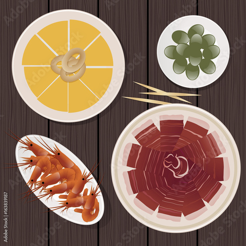 Foto  Typical Spanish Food