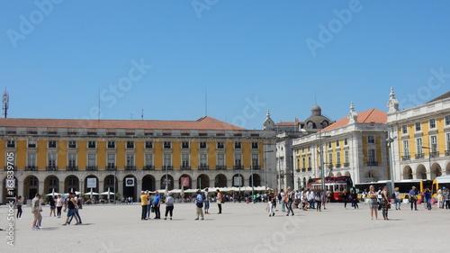 Photo Stands Paris Place du commerce, Lisbonne, Portugal