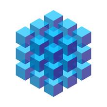 Transparent Isometric Cubes St...