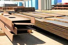 Metal Workpieces In Dockyard