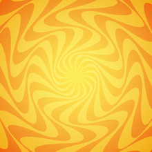 Yellow Grunge Sunbeam Background. Sun Rays Abstract Wallpaper. Surface Pattern Design With Symmetrical Lines Ornament.