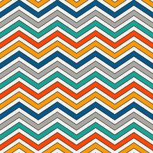 Chevron Stripes Background. Bright Seamless Pattern With Classic Geometric Ornament. Zigzag Horizontal Lines Wallpaper.
