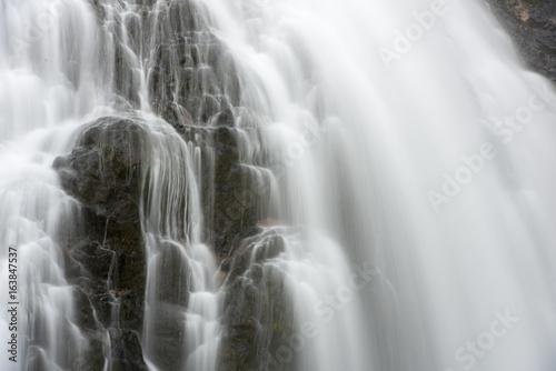 Fototapeta Abstract Waterfall closeup long exposure
