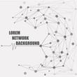 Design Technology Network background. Connection Concept