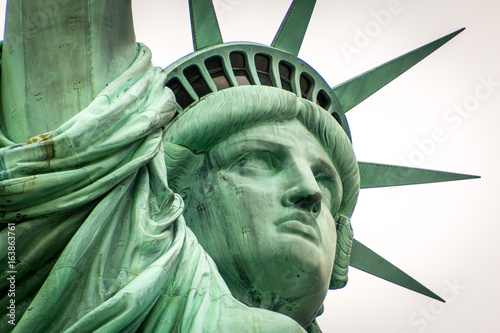 Stickers pour porte Commemoratif Lady Liberty