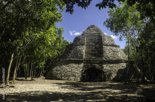 Photo  The Observatory at Coba, Mexico