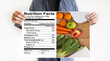 Nutrition facts Gluten Free food Celiac Disease Nutrition , Healthy lifestyle concept with diet and fitness