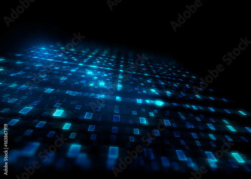 Fototapety, obrazy: abstract defocus digital technology background