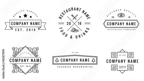 Fotografie, Obraz  Artisanal Logo Templates