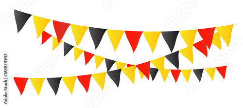 Fanions tricolores (Drapeau Belgique) Fototapet
