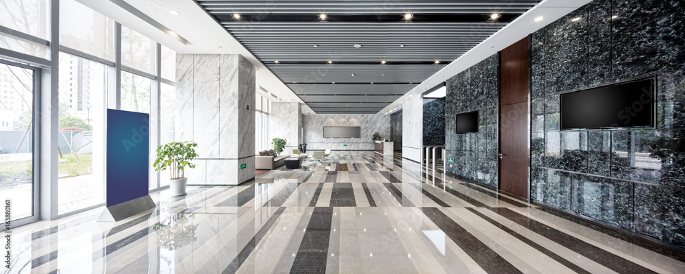 Fototapeta interior of modern entrance hall