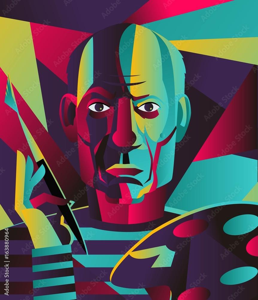 great spanish colorful portrait painter