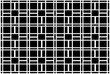 Monochrome square and fence pattern