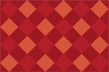 Modern Orange Diamond Pattern
