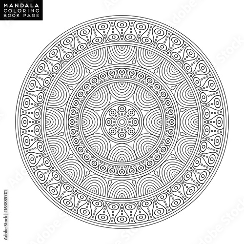 Coloring Book Page By Lovelymandala Flower Mandala Vintage Decorative Elements Oriental Pattern Vector Illustration Islam Arabic